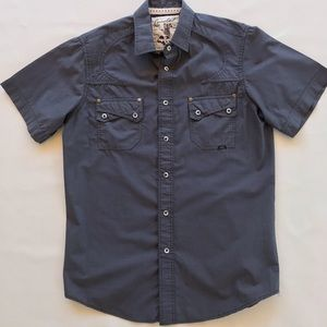 Costal Western Style Button Down With Snaps Shirt